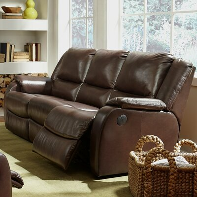 Sawgrass Reclining Sofa Upholstery: Bonded Leather - Champion Onyx