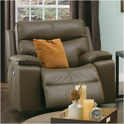 Providence Rocker Recliner Upholstery: Bonded Leather - Champion Khaki, Type: Manual