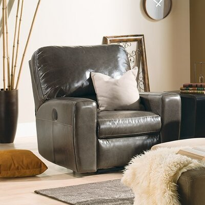 San Francisco Wall Hugger Recliner Upholstery: Leather/PVC Match - Tulsa II Jet, Type: Power