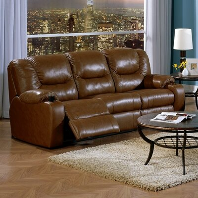 Dugan Leather Sofa Upholstery: All Leather Protected - Tulsa II Dark Brown, Type: Power