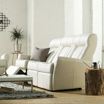 Yellowstone II Leather Leather Reclining Sofa Upholstery: All Leather Protected - Tulsa II Chalk, Type: Power