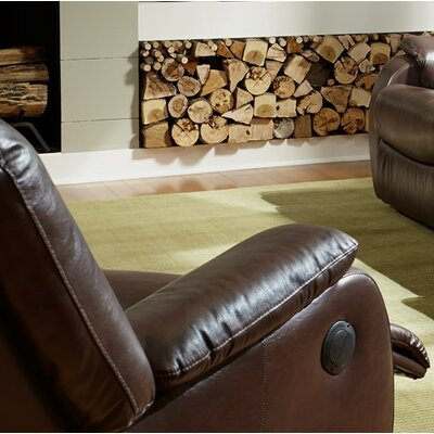 Sawass Rocker Recliner Upholstery: Leather/PVC Match - Tulsa II Dark Brown