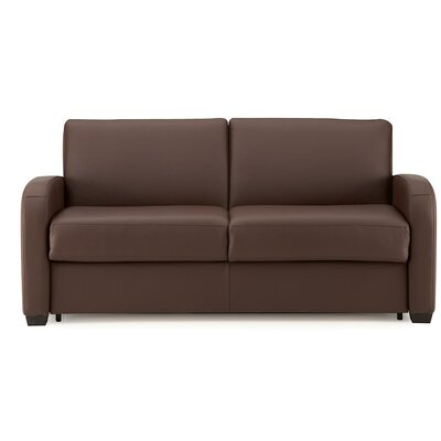 Daydream Sleeper Sofa Upholstery: Bonded Leather - Champion Granite