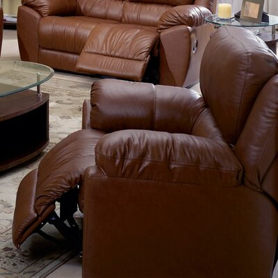 Benson Wall Hugger Recliner Upholstery: Leather/PVC Match - Tulsa II Jet, Type: Power