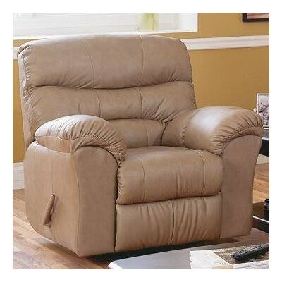 Durant Swivel Rocker Recliner Upholstery: Leather/PVC Match - Tulsa II Stone