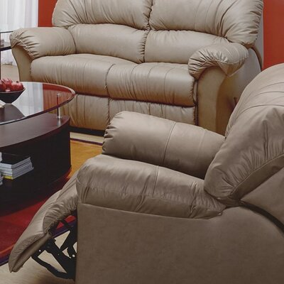 Callahan Wall Hugger Recliner Upholstery: Leather/PVC Match - Tulsa II Sand, Type: Power