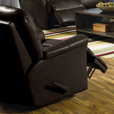 Fiesta Rocker Recliner Upholstery: All Leather Protected - Tulsa II Dark Brown, Type: Power