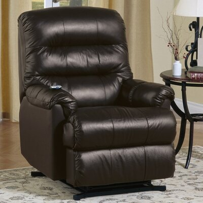Columbus Wall Hugger Recliner Upholstery: Bonded Leather - Champion Alabaster, Type: Manual
