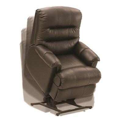 Columbus Lift Chair Upholstery: Bonded Leather - Champion Alabaster, Type: Power