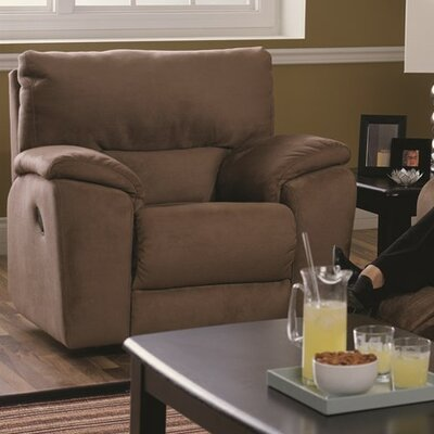 Shields Wall Hugger Recliner Upholstery: Bonded Leather - Champion Granite, Type: Power