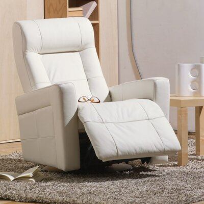 Chesapeake Wall Hugger Recliner Upholstery: Leather/PVC Match - Tulsa II Dark Brown, Type: Power