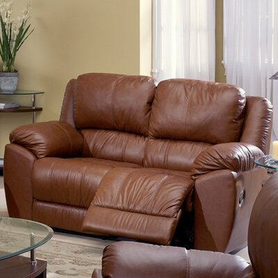 Benson Console Loveseat Upholstery: Tulsa II Sand, Leather Type: All Leather Protected, Type: Power