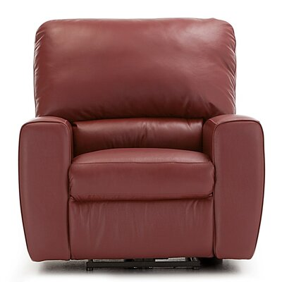 San Francisco Wall Hugger Recliner Upholstery: Bonded Leather - Champion Java, Type: Manual