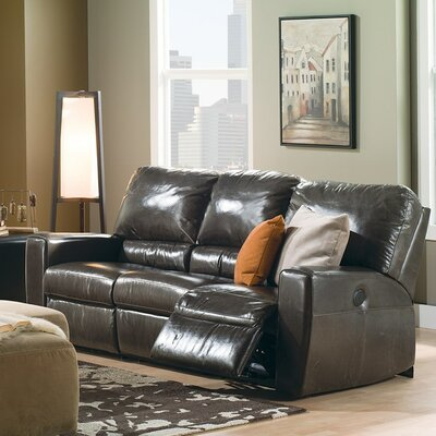 San Francisco Reclining Loveseat Upholstery: Leather/PVC Match - Tulsa II Dark Brown