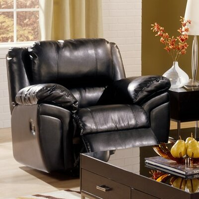 Daley Wall Hugger Recliner Upholstery: Bonded Leather - Champion Onyx, Type: Manual