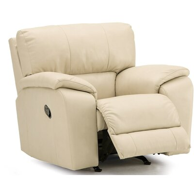 Shields Swivel Rocker Recliner Upholstery: Leather/PVC Match - Tulsa II Sand