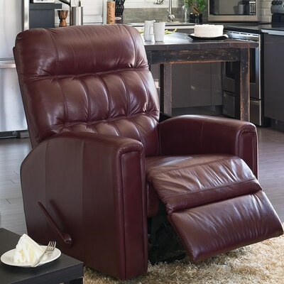 Thorncliffe Rocker Recliner Upholstery: All Leather Protected - Tulsa II Jet, Type: Manual