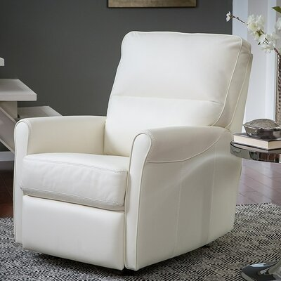Pinecrest Rocker Recliner Type: Power, Upholstery: Leather/PVC Match - Tulsa II Bisque