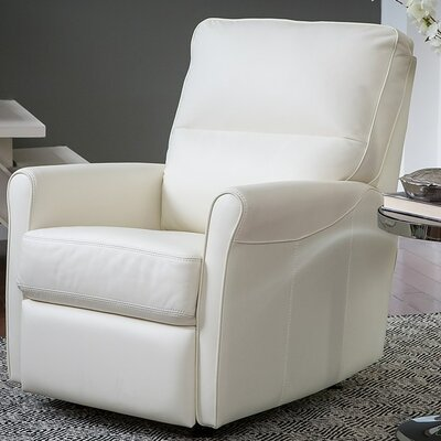 Pinecrest Wall Hugger Recliner Type: Power, Upholstery: Leather/PVC Match - Tulsa II Sand