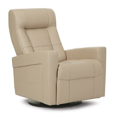 Chesapeake II Swivel Glider Recliner Type: Power, Upholstery: Leather/PVC Match - Tulsa II Bisque