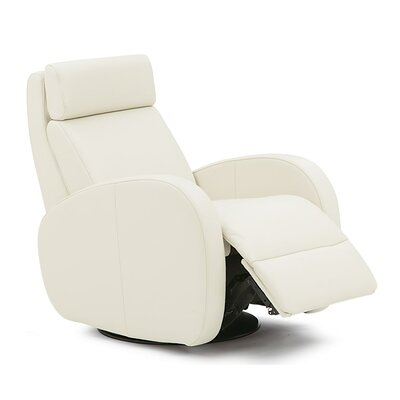 Jasper II Wall Hugger Recliner Upholstery: Bonded Leather - Champion Alabaster, Type: Power