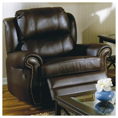 Luca Swivel Rocker Recliner Upholstery: Bonded Leather - Champion Granite, Upholstery`: Bonded Leather - Champion Khaki
