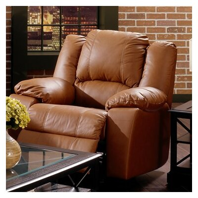 Delaney Rocker Recliner Upholstery: Leather/PVC Match - Tulsa II Dark Brown, Type: Manual