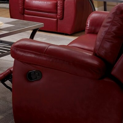 Brunswick Swivel Rocker Recliner Upholstery: All Leather Protected  - Tulsa II Jet
