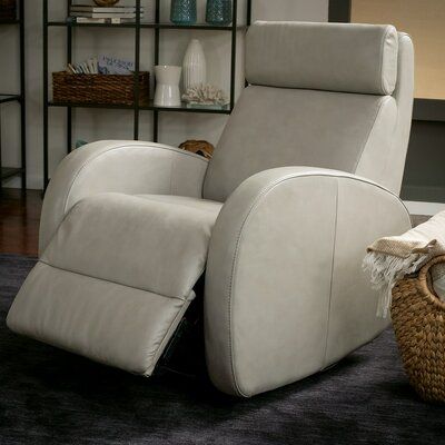 Jasper II Wall Hugger Recliner Upholstery: Bonded Leather - Champion Khaki, Type: Power