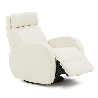 Jasper II Swivel Glider Recliner Type: Power, Upholstery: Bonded Leather - Champion Alabaster