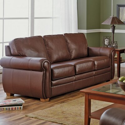 Viceroy Loveseat Upholstery: All Leather Protected  - Tulsa II Stone