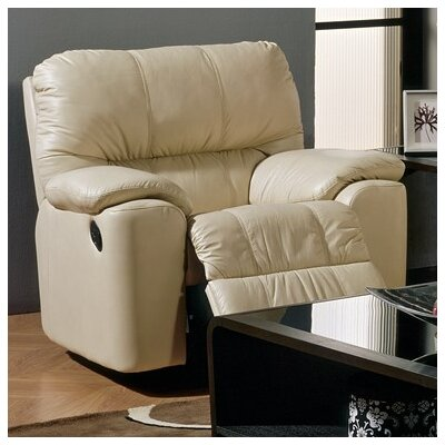 Picard Wall Hugger Recliner Upholstery: Bonded Leather - Champion Alabaster, Type: Manual