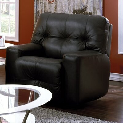 Mystique Wall Hugger Recliner Type: Manual, Upholstery: Bonded Leather - Champion Onyx