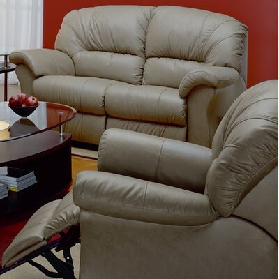Tracer Wall Hugger Recliner Upholstery: Bonded Leather - Champion Khaki, Type: Manual