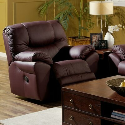Divo Wall Hugger Recliner Upholstery: Bonded Leather - Champion Granite, Type: Power
