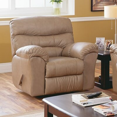 Durant Wall Hugger Recliner Upholstery: All Leather Protected - Tulsa II Jet, Type: Manual
