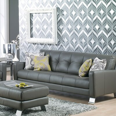 Ocean Drive Sofa Upholstery: Leather/PVC Match - Tulsa II Jet