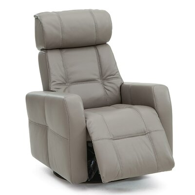 Myrtle Beach Rocker Recliner Upholstery: Leather/PVC Match - Tulsa II Chalk