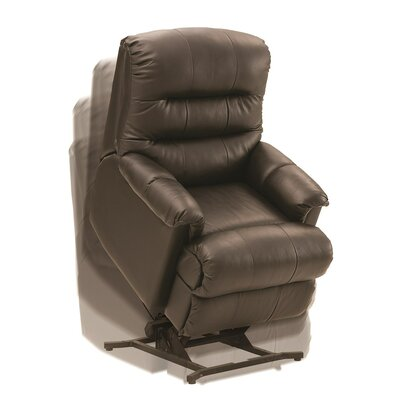 Columbus Wall Hugger Recliner Upholstery All Leather Protected Tulsa II Jet Leather Type Leather PVC Match Type Power
