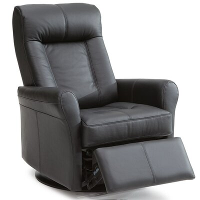 Yellowstone II Wall Hugger Recliner Upholstery: Bonded Leather - Champion Onyx, Type: Power