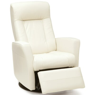 Banff Wall Hugger Recliner Upholstery: Leather/PVC Match - Tulsa II Chalk