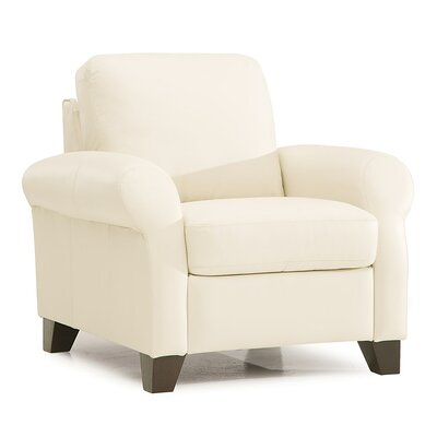 Ottawa Arm Chair Upholstery: All Leather Protected  - Tulsa II Chalk