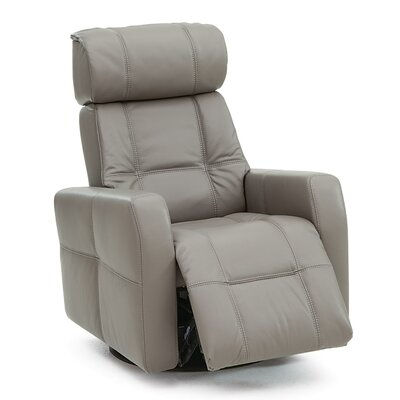 Myrtle Beach Wall Hugger Recliner Upholstery: Bonded Leather - Champion Granite, Type: Power