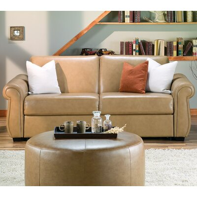 Holiday Sleeper Sofa Upholstery: Bonded Leather - Champion Mink