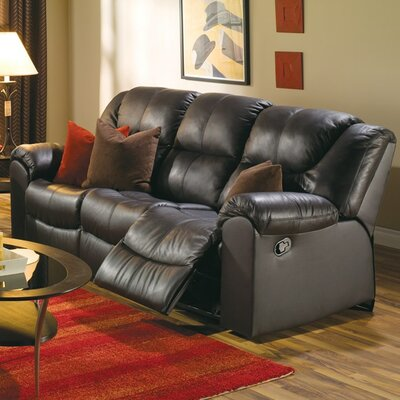 Parkville Reclining Sofa Upholstery: Bonded Leather - Champion Onyx