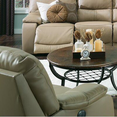 Norwood Wall Hugger Recliner Upholstery: Leather/PVC Match - Tulsa II Dark Brown, Type: Manual