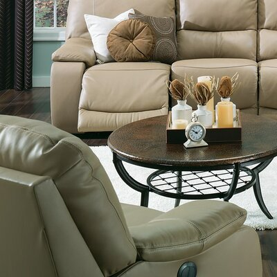 Norwood Rocker Recliner Upholstery: Leather/PVC Match - Tulsa II Sand, Type: Power