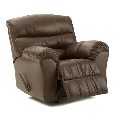Durant Wall Hugger Recliner Upholstery: Leather/PVC Match - Tulsa II Dark Brown, Type: Power