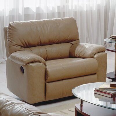 Yale Swivel Rocker Recliner Upholstery: Bonded Leather - Champion Khaki