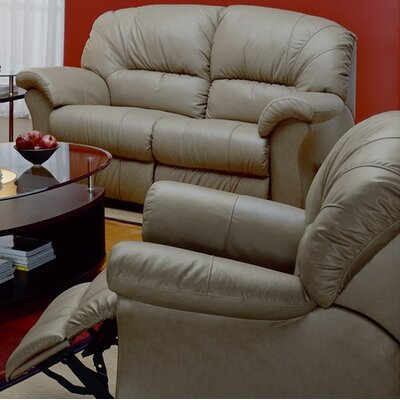 Tracer Swivel Rocker Recliner Upholstery: Leather/PVC Match - Tulsa II Sand